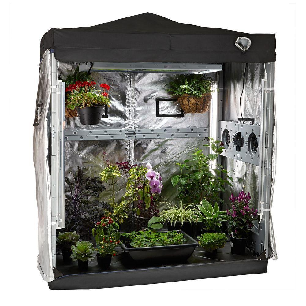 6 ft. x 4 ft. x 7.5 ft. Eco Garden House Complete Indoor Growing Kit