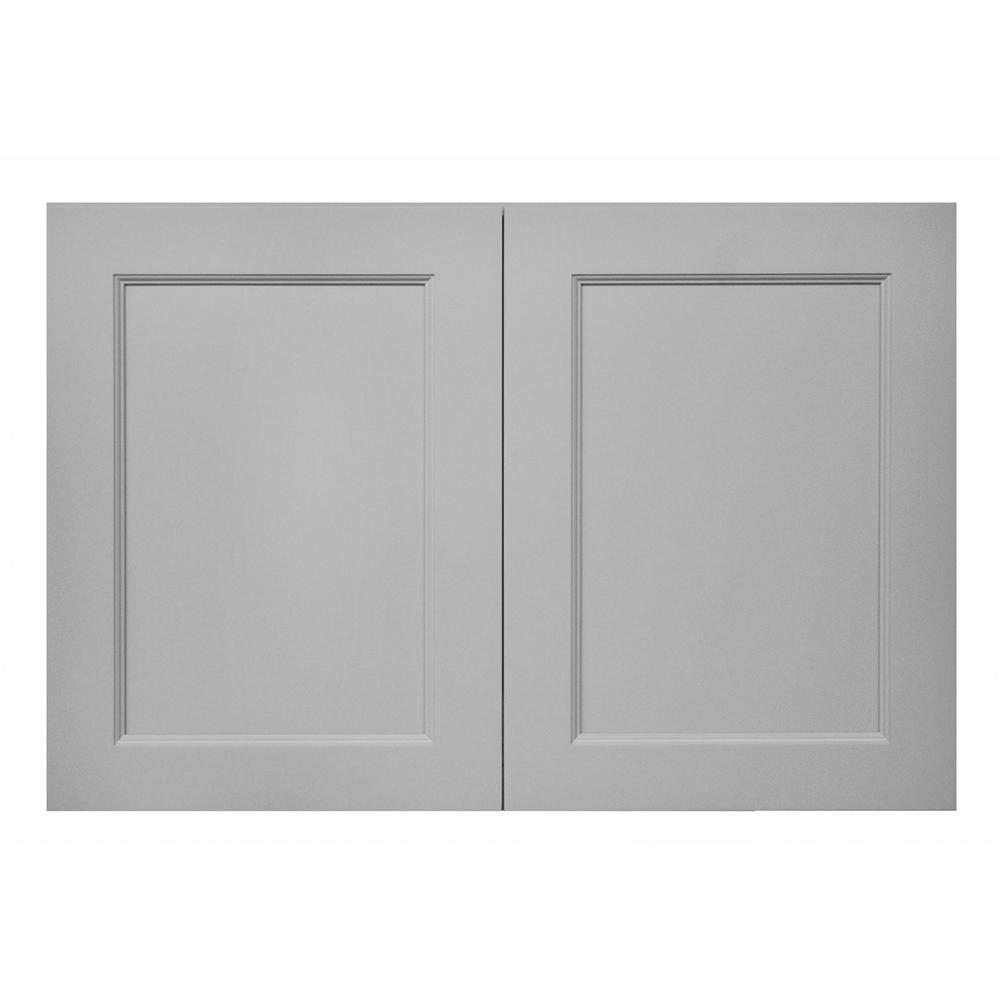 Modern Craftsman Ready to Assemble 36x24x24 in. Wall Cabinet in Gray