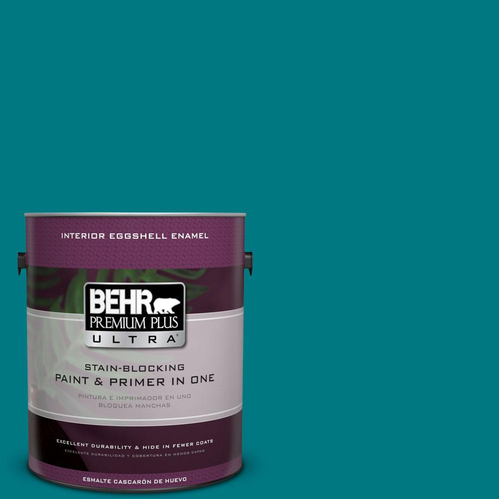 BEHR Premium Plus Ultra 1-gal. #P470-7 The Real Teal Eggshell Enamel Interior Paint