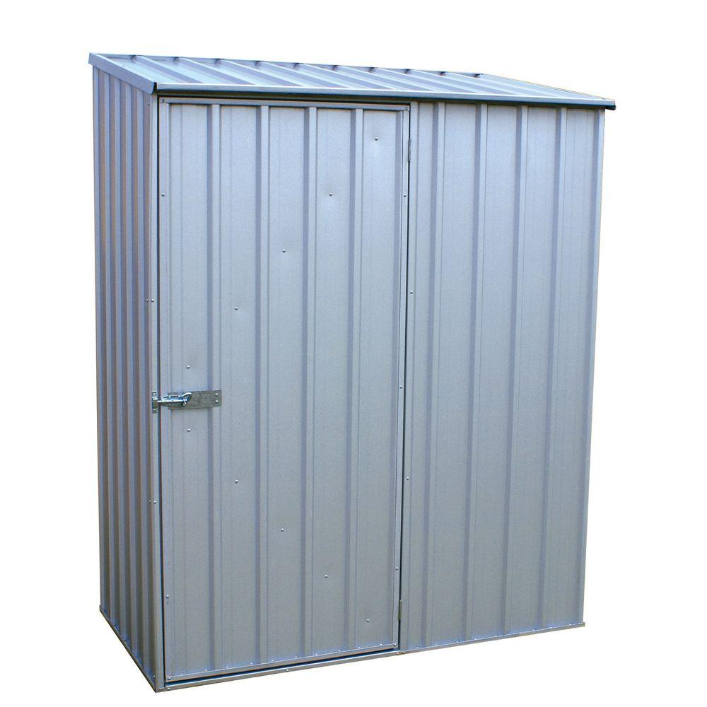 Absco 5 ft x 3 ft spacesaver zincalume tool shed for Equipment shed