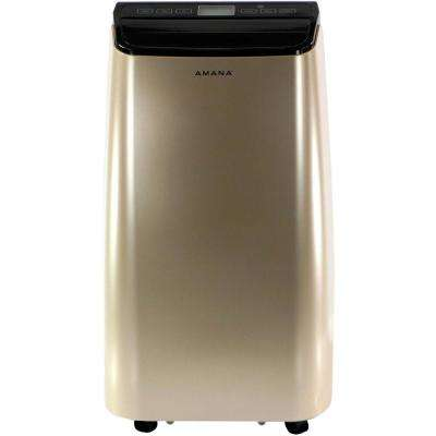 10000 BTU 6500 BTU (DOE) Portable Air Conditioner with Remote Control in Gold/Black for Rooms up to 250 Sq. Ft.