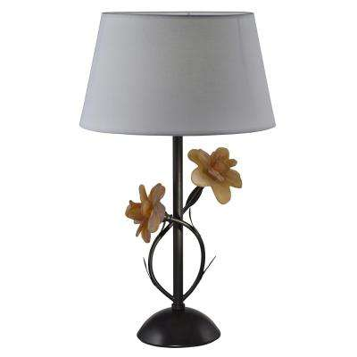 24.25 in Oil Rubbed Table Lamp with Fabric Shade
