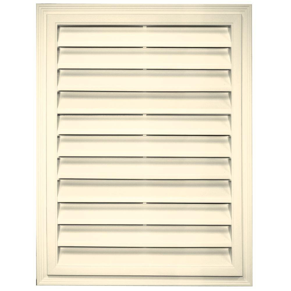 Builders Edge 18 in. x 24 in. Rectangle Gable Vent in Heritage Cream