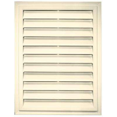 18 in. x 24 in. Rectangle Gable Vent in Heritage Cream