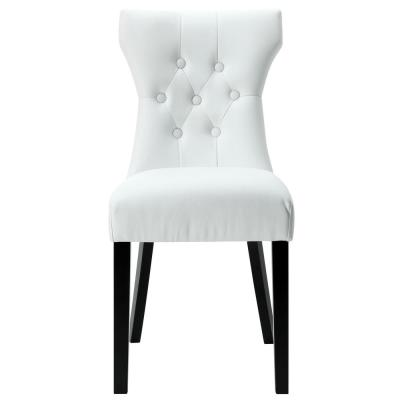 Silhouette White Dining Vinyl Side Chair