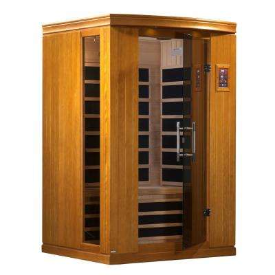 Tru Heat Upgraded 2 Person Far Infrared Sauna with 6 Carbon Tech Heaters, MP3, Light and Dual Controls