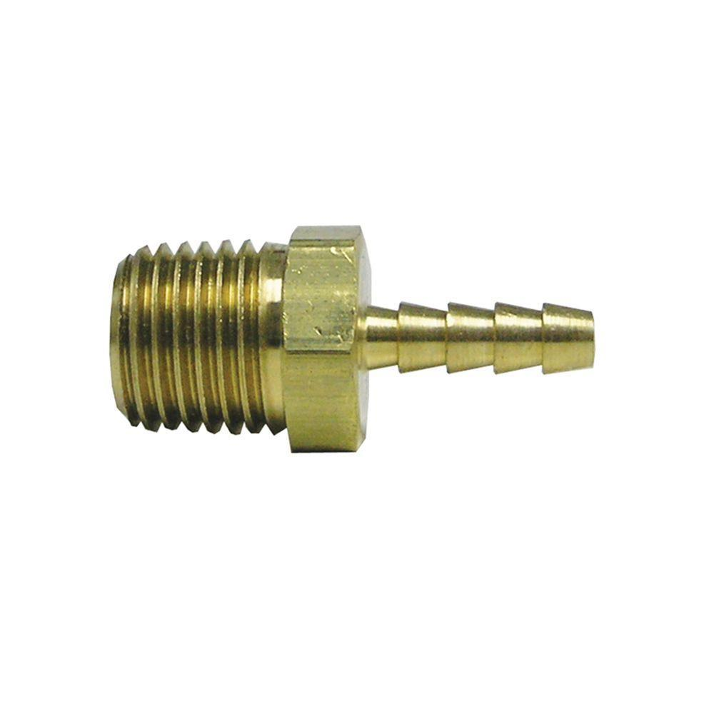 Everbilt Lead Free Brass Hose Barb Adapter 3 8 In X 1 2