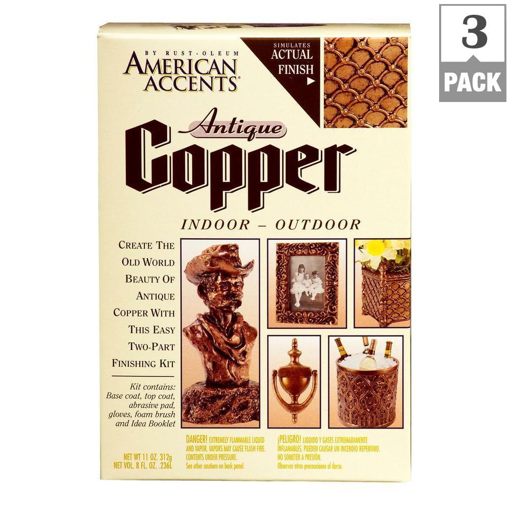 2-Part Antique Copper Finish Decorative Kit (3-Pack)