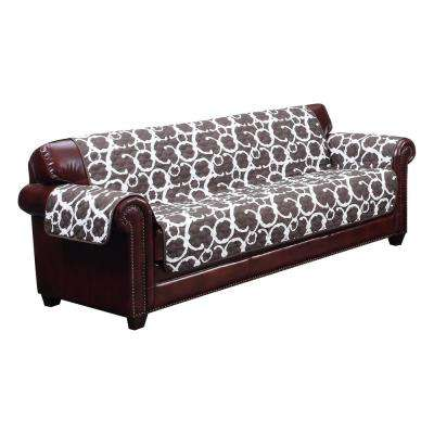 Rhys Water Resistant Chocolate Fit Polyester Fit Sofa Slip Cover