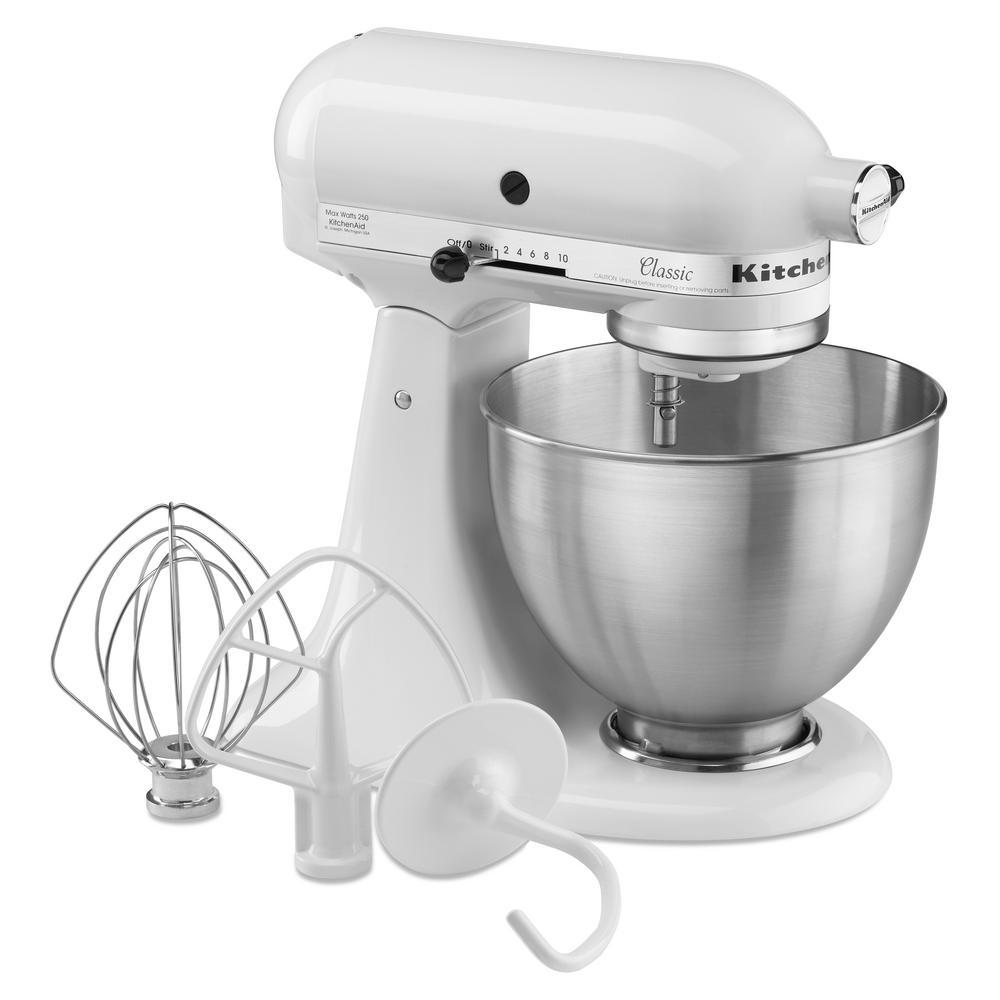 KitchenAid Classic 4.5 Qt. Tilt-Head White Stand Mixer-K45SSWH ...