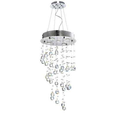 5-Light Chrome Chandelier