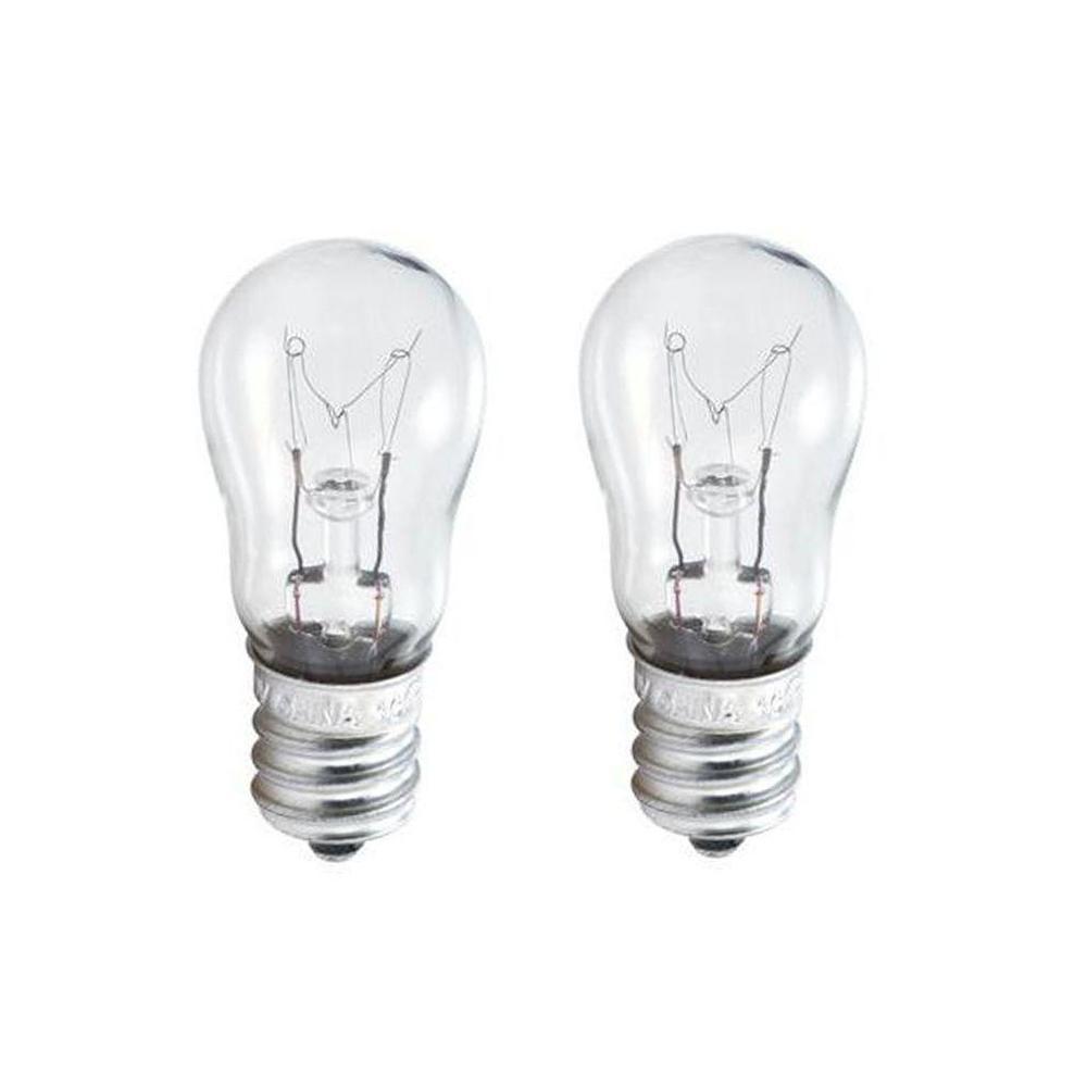 6 Watt S6 Incandescent Candelabra Base Indicator Light Bulb 2 Pack