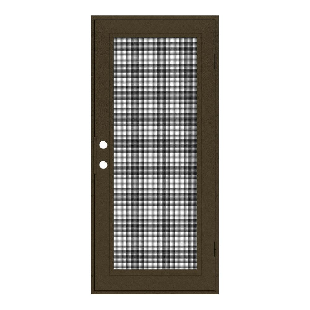 Unique Home Designs 32 in. x 80 in. Full View Royal Brown ...