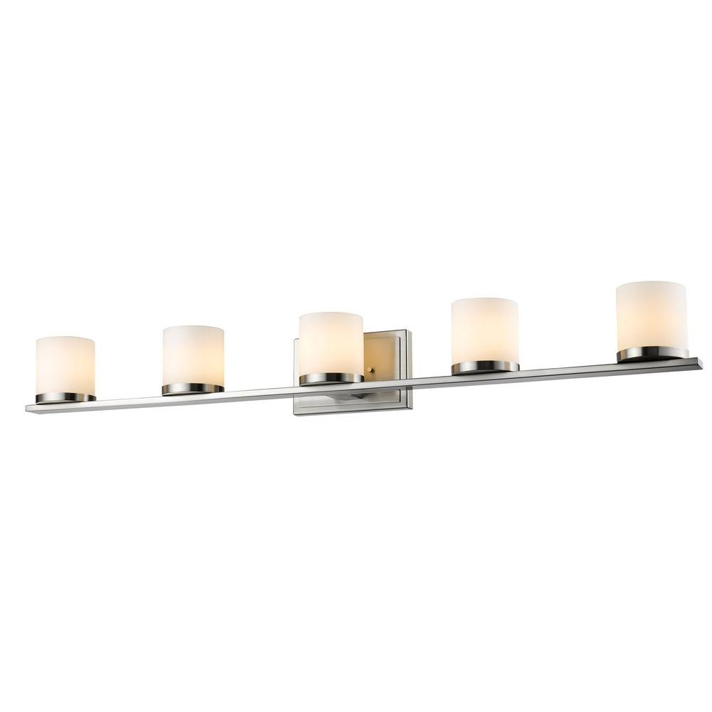 Kariya 5-Light Brushed Nickel Bath Vanity Light
