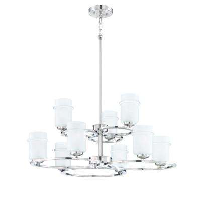 Omega 9-Light Satin Platinum Interior Incandescent Chandelier