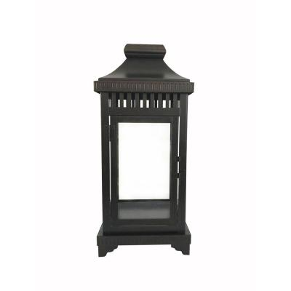 16 in. Bronze Steel Outdoor Patio Lantern