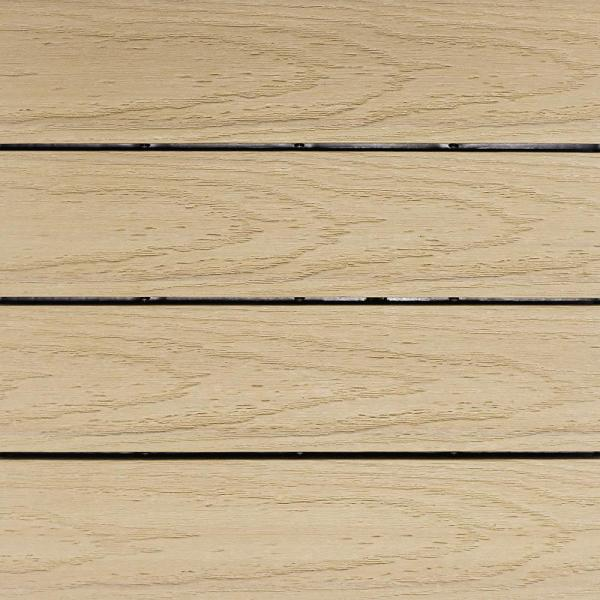 UltraShield Naturale 1 ft. x 1 ft. Quick Deck Outdoor Composite Deck Tile in Japanese Cedar (10 sq. ft. Per Box)