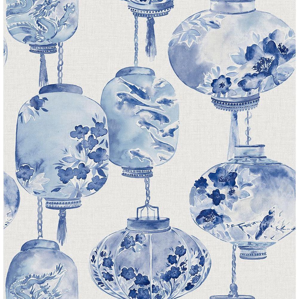 Beacon House Kana Sapphire Lantern Festival Wallpaper Sample 2669-21713SAM