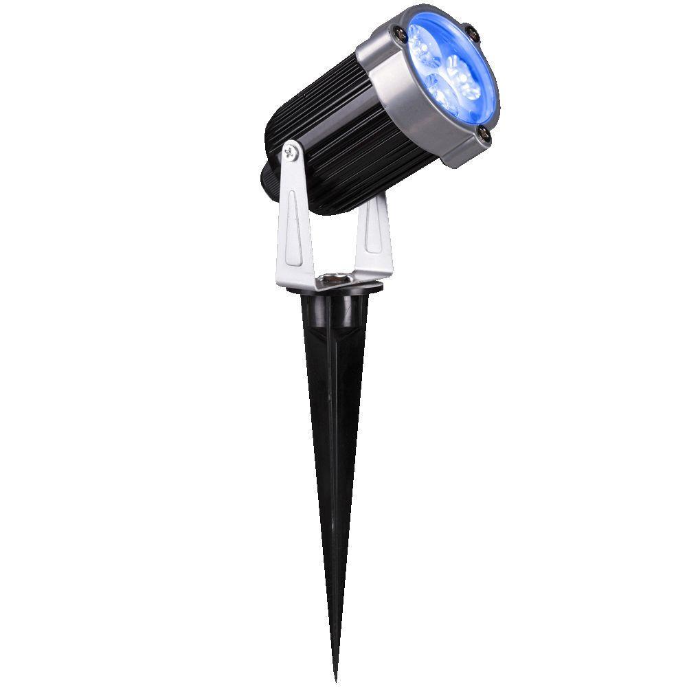 354 in 3 light blue led outdoor spotlight stake 2 pack 89250 2pk 3 light blue led outdoor spotlight stake 2 pack workwithnaturefo