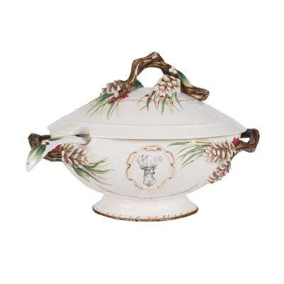 15 in. Forest Frost Soup Tureen