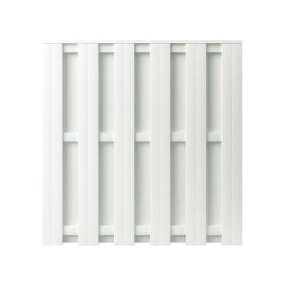 Palatine 6 ft. H x 6 ft. W White Vinyl Shadowbox Fence Panel - Unassembled
