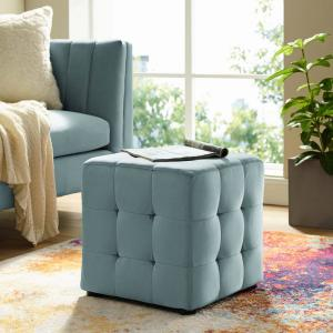 Prime Modway Contour Light Blue Tufted Button Cube Performance Gmtry Best Dining Table And Chair Ideas Images Gmtryco