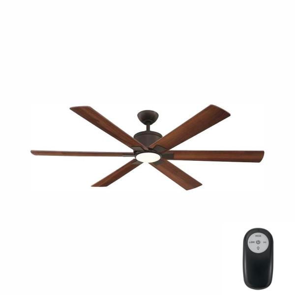Renwick 60 in. Integrated LED Indoor Oil Rubbed Bronze Ceiling Fan with Light Kit and Remote Control