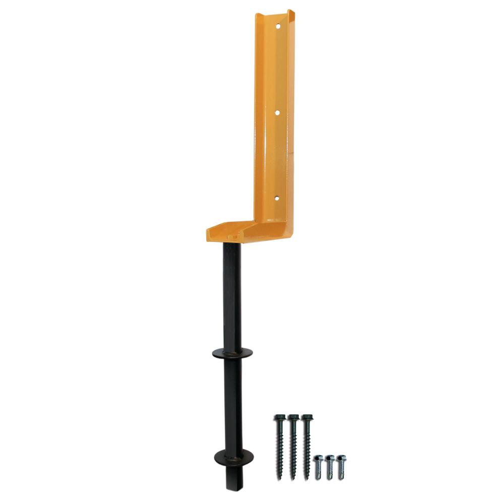 The Fix-A-Fence 8-1/2 in  x 3 in  x 36 in  11 lb  Heavy Duty Powder Coated  Metal Fence Post Repair Bracket