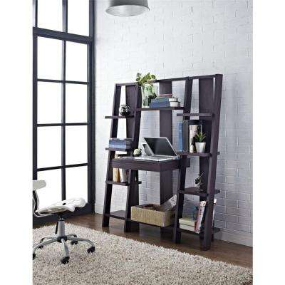 Tiffany Espresso Ladder Bookcase