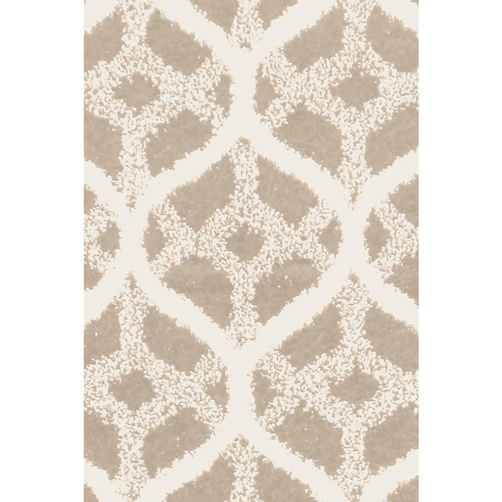 Remus Light Taupe Off White 2 Ft X 4 Area Rug