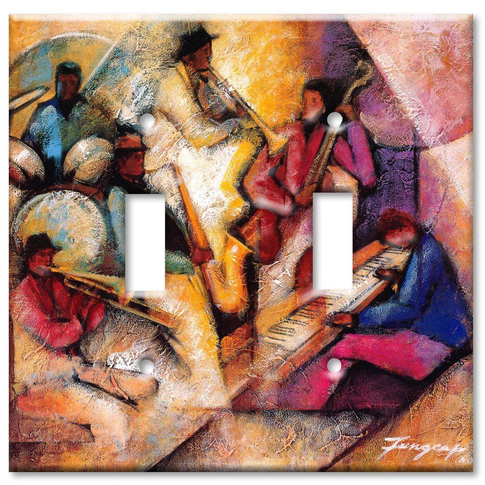 Art Plates Blues Jam Session 2 Toggle Wall Plate