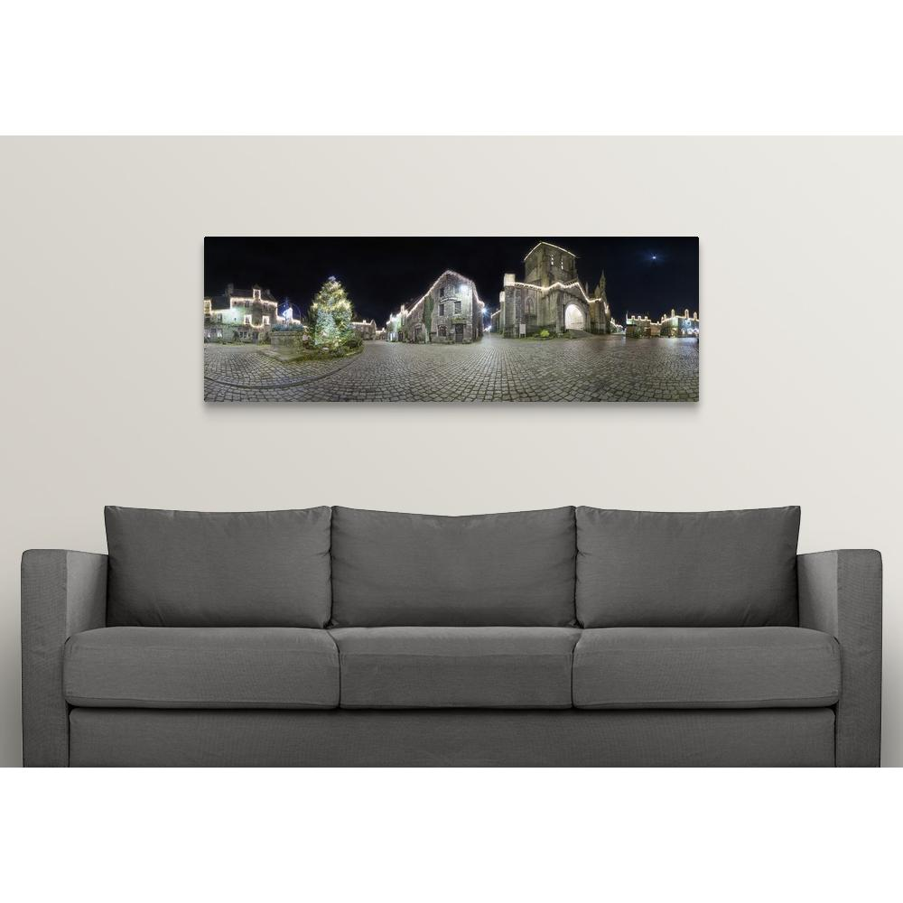 Panorama de locronan by philippe manguin canvas wall art