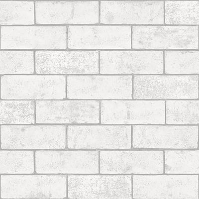56.4 sq. ft. Kirsten White Industrial Brick Wallpaper