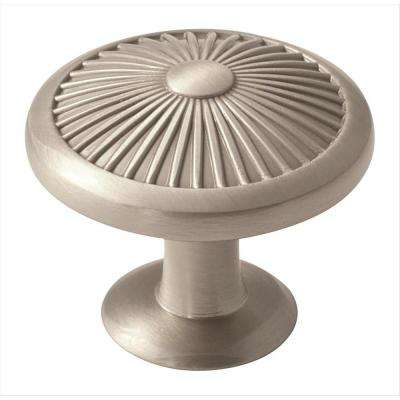 Crawford 1-3/8 in. (35 mm) Satin Nickel Cabinet Knob