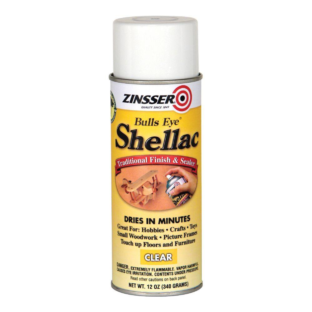 Zinsser 12 oz. Clear Shellac Spray-408 - The Home Depot