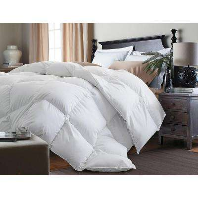White Goose Down and Feather King Comforter
