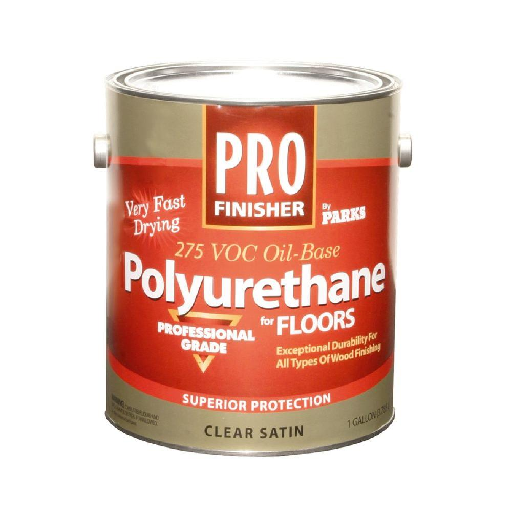 Rust-Oleum Parks Pro Finisher 1 gal. Clear Satin 275 VOC Oil-Based Polyurethane for Floors (4-Pack)