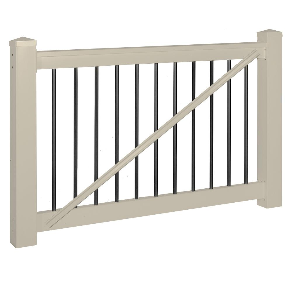 Weatherables bellaire 3 5 ft h x 5 ft w khaki vinyl railing gate kit wkg thdba42 s60 the - Vinyl railing reviews ...