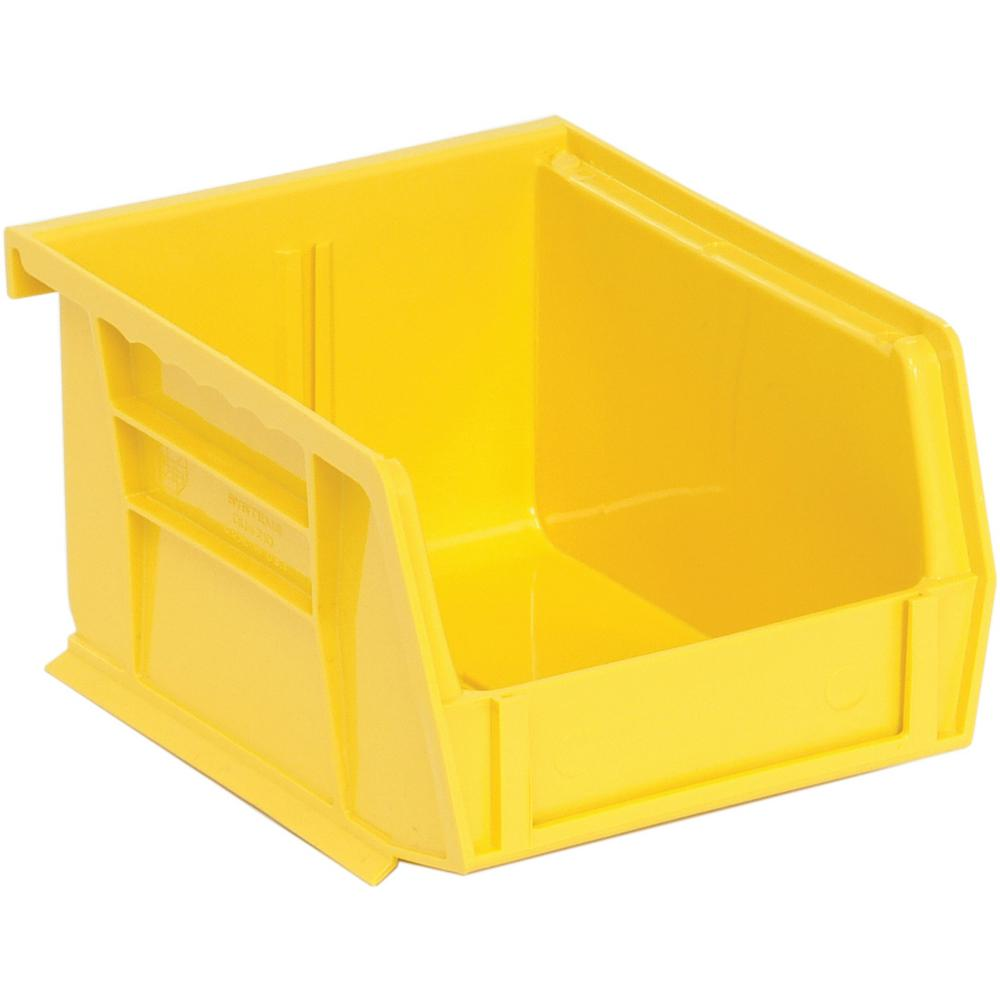 Ultra Series Stack and Hang 1.2 Gal. Storage Bin in Yellow