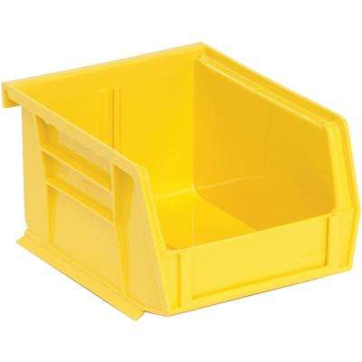 Ultra Series Stack and Hang 1.2 Gal. Storage Bin in Yellow (24-Pack)