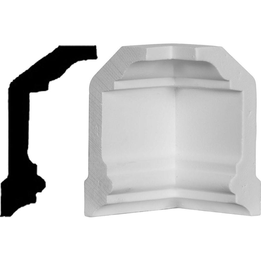 2-1/4 in. x 2-1/4 in. x 4 in. Polyurethane Inside Corner Moulding