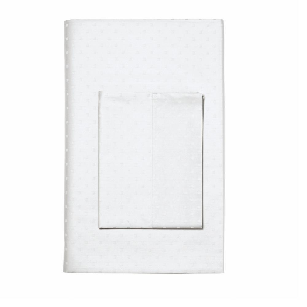 The Company Store Legends Luxury Dot White Supima Sateen King Pillowcase