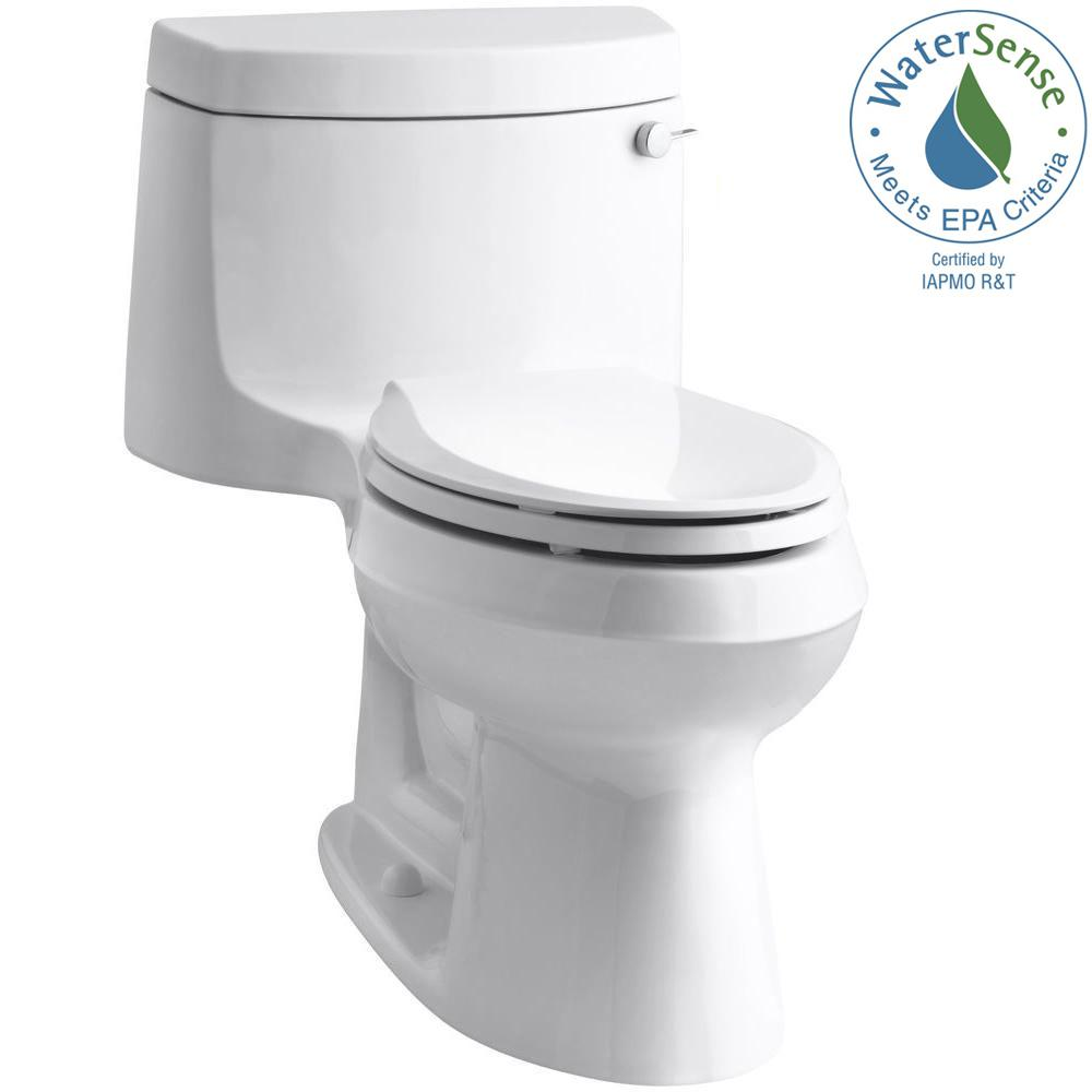 Cimarron 1-Piece 1.28 GPF Single Flush Elongated Toilet with AquaPiston Flush