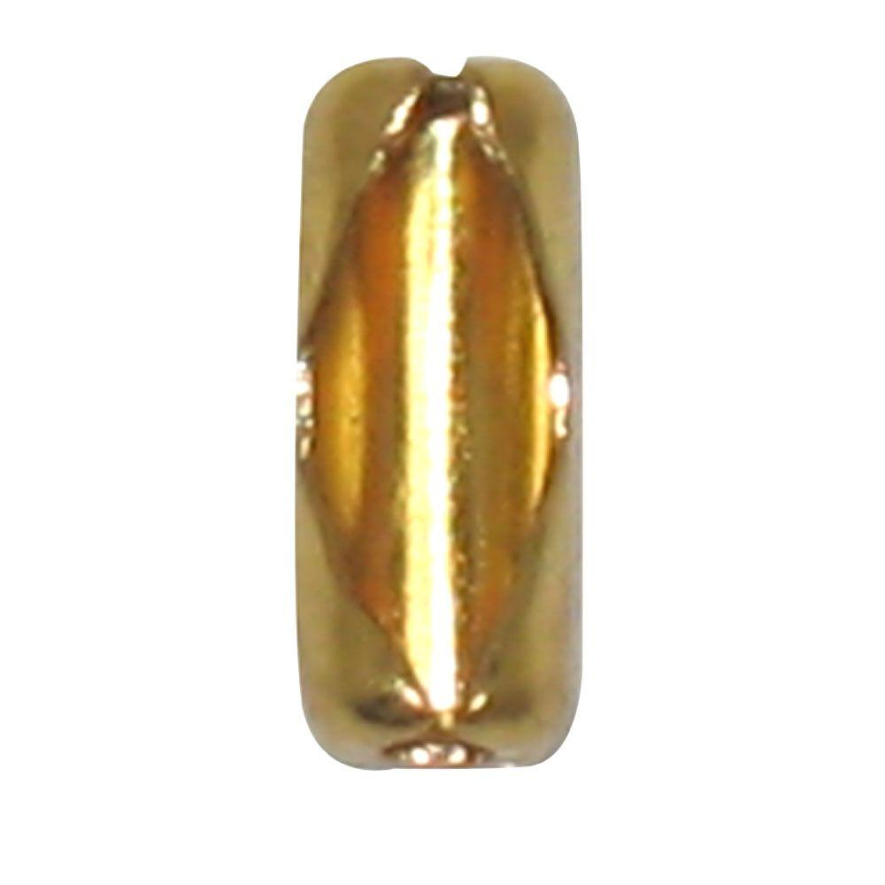 Commercial Electric Brass Chain Connectors (6-Pack), Polished Brass These solid brass chain connectors are designed for pull chains frequently used with ceiling fans and lighting fixtures. The connector easily snaps to the ends of beaded pull chains. Allows for extensions to make the chains longer. Color: Polished Brass.