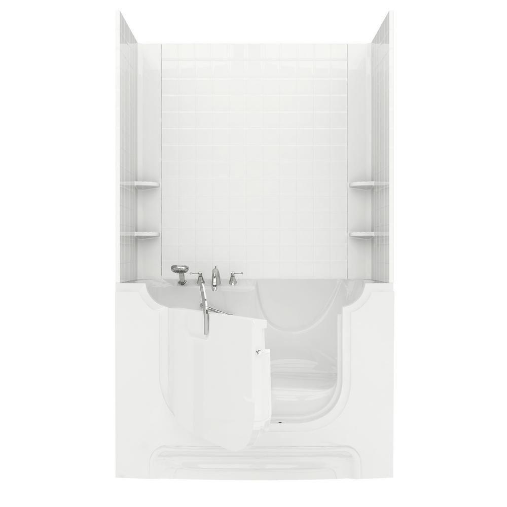 Rampart Wheelchair Accessible 5 ft. walk-in bathtub with 4 in. Tile ...