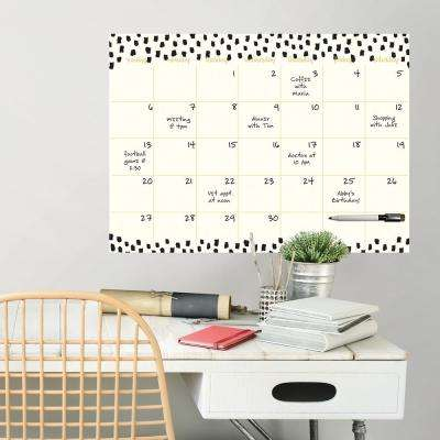 White Luxe Monthly Calendar Wall Decal