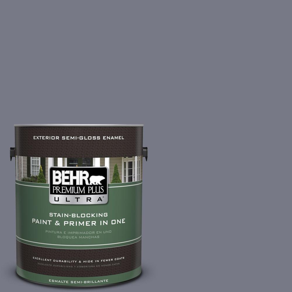 BEHR Premium Plus Ultra 1-gal. #N540-5 Infamous Semi-Gloss Enamel Exterior Paint