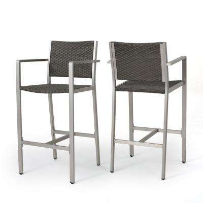 Cape Coral Wicker Outdoor Bar Stool (2-Pack)