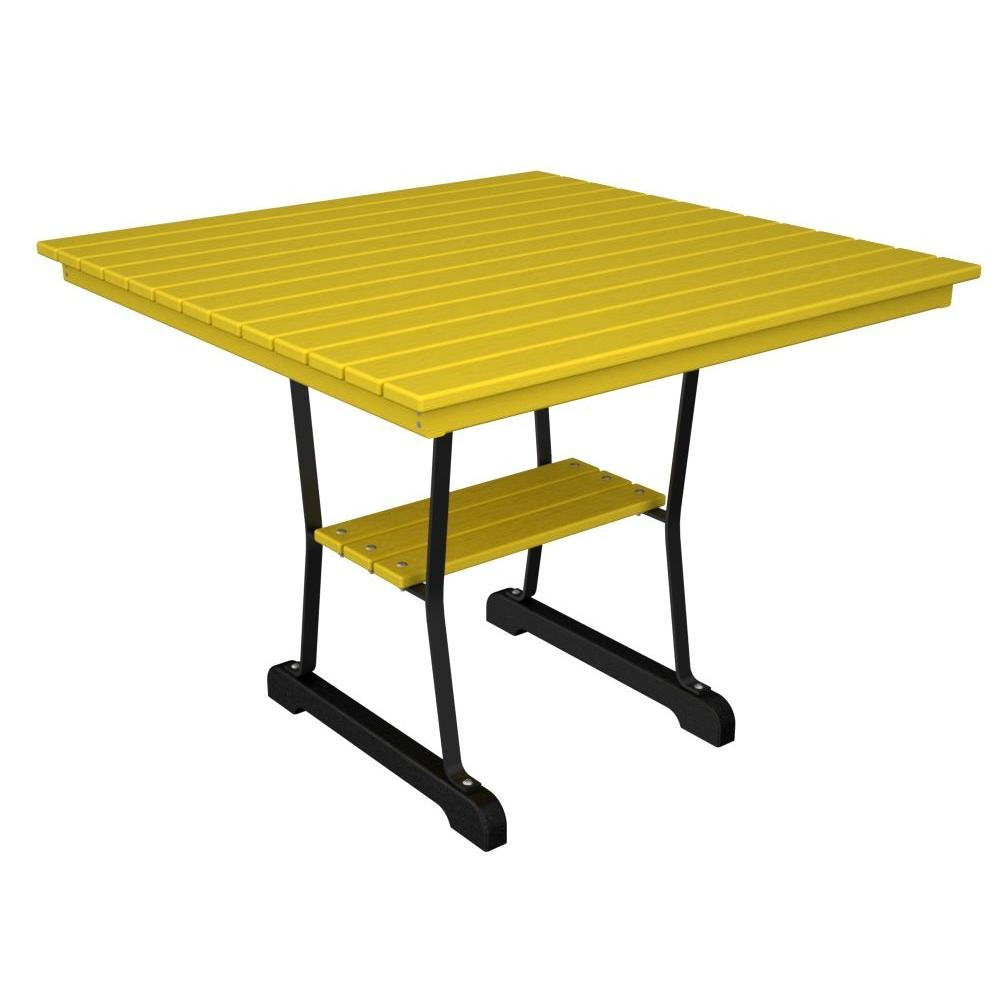 Ivy Terrace Black and Lemon 36 in. Patio Dining Table-DISCONTINUED