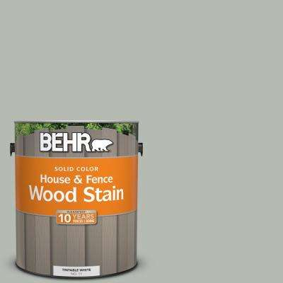 1 gal. #HDC-AC-21 Keystone Gray Solid Color House and Fence Exterior Wood Stain
